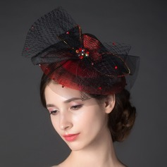 Stilfuld Rhinsten/Netto garn Fascinators
