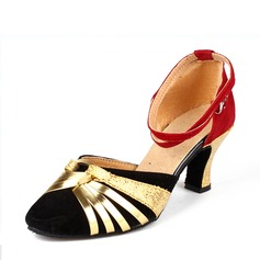 Women's Leatherette Sparkling Glitter Suede Latin Dance Shoes