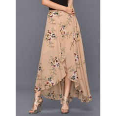 A-Line Asymmetrical Chiffon Cocktail Dress