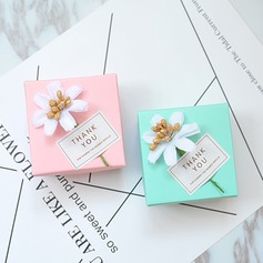 Card Paper Favor Boxes & Containers With Ribbons