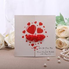 Persoonlijke Hart Stijl Gate-Fold Invitation Cards (Set van 50)