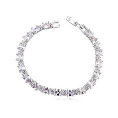 Vackra Och Zirkon/Platina Damer' Armband