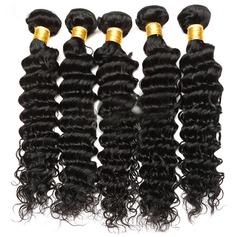 5A Virgin / remy Profond les cheveux humains Tissage en cheveux humains (Vendu en une seule pièce) 50 g