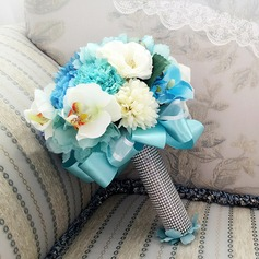 Gorgeous Round Satin Bridal Bouquets (Sold in a single piece) - Bridal Bouquets