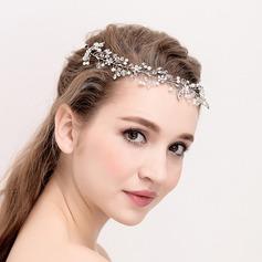 Señoras Elegante Crystal/La perla de faux Diademas