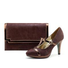 Prachtige PU/Doek Schoenen & bijpassende tassen