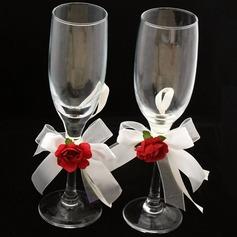 Vornehm Bleifreies Glas Toasten Flöten (Satz Von 2)