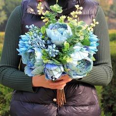 Style Classique Rond Satiné/Soie Bouquets de mariée -