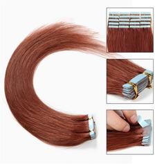 4A Rakt människohår Tape i hårförlängningar 20PCS