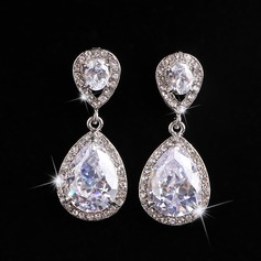 Beautiful Alloy/Rhinestones Ladies' Earrings (011106552)