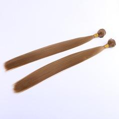 Tout droit cheveux synthétiques Tissage en cheveux humains (Vendu en une seule pièce) 100 g