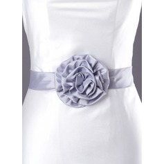 Beautiful Charmeuse Sash With Flower (015003402)