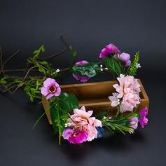 Damer Iøynefallende Silke blomst Pannebånd (Selges i ett stykke)