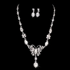 Butterfly Shaped Alloy/Rhinestones With Rhinestone Ladies' Jewelry Sets