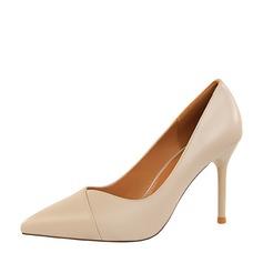 Kvinnor PU Stilettklack Pumps Stängt Toe med Andra skor