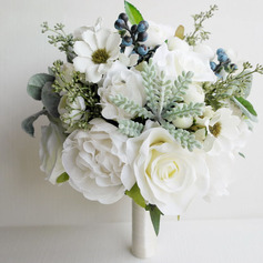 Girly Free-Form Silk Flower Bridal Bouquets (Sold in a single piece) -