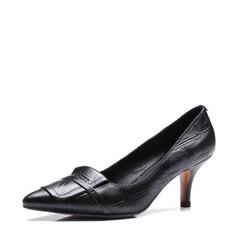 Kvinnor Äkta läder Stilettklack Pumps Stängt Toe med Andra skor