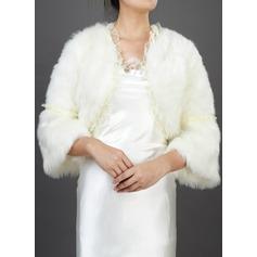 Yarım Kol Yün Düğün Ceketler/Şallar