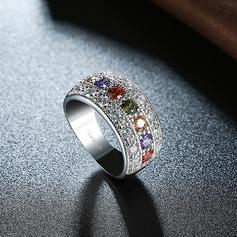 Мода Циркон медь кольца способа