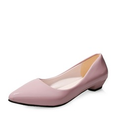 Kvinnor Konstläder Låg Klack Stängt Toe skor
