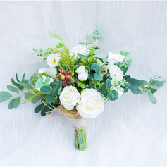 Pretty Round Artificial Flower Bridal Bouquets (Sold in a single piece) - Bridal Bouquets