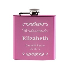 Bridesmaid Gifts - Personalized Beautiful Cute Alloy Flask (256170034)