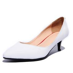 Echtleder Kätzchen Absatz Absatzschuhe Geschlossene Zehe Schuhe