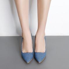 Mulheres Jean Salto agulha Bombas Fechados sapatos