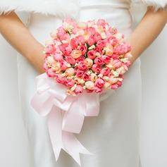 Attractive Redondo Seda artificiais Buquês de noiva