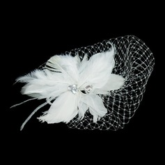 Gorgeous Feather/Tulle Flowers & Feathers With Rhinestone