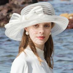 Dames Betoverend/Het oog Springende Polyester Strand / Zon Hoeden/Theepartij hoeden