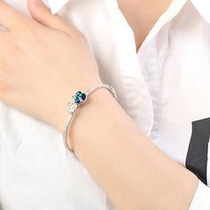 Arco sagomato lega Cristallo con Imitazione di cristallo Braccialetti di modo (Venduto in un unico pezzo)