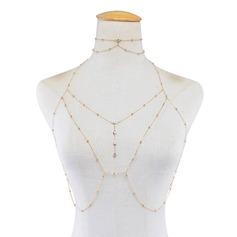 Chic Liga com Strass Senhoras Corpo de jóias (Vendido em uma única peça)