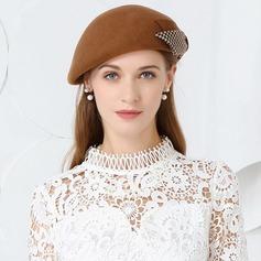 Dames Beau Coton/Tissu avec Bowknot Béret Chapeau