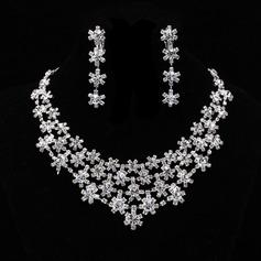 Flocos de neve em forma Liga/Strass Senhoras Conjuntos de jóias