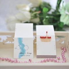 "Personalized ""Romance"" Hard Card Paper Matchboxes (Set of 50)"