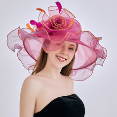 Ladies ' Hotteste/Romantisk Organzastof med Blomst Strand / Sun Hatte/Kentucky Derby Hatte/Tea Party Hats