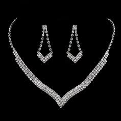 Estilo de la vendimia cobre con Rhinestone Señoras' Sistemas de la joyería