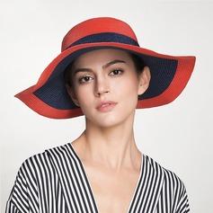 Señoras' Simple/Caliente Ratán paja Sombrero de paja/Sombreros Playa / Sol/Derby Kentucky Sombreros