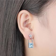 Utsökt Legering/Kristall med Kristall örhängen