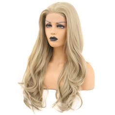Wavy Synthetic Hair Lace Front Wigs 340g
