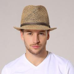 De los hombres Estilo clásico Rafia paja Sombrero de paja