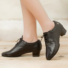Women's Real Leather Modern Practice Dance Shoes