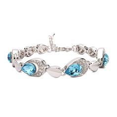 Chic Cuivre/Zircon de/Platine plaqué Dames Bracelets