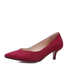 Vrouwen Suede Kitten Hak Pumps Closed Toe met Anderen schoenen