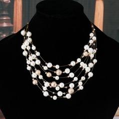 Exquisito Aleación con Perlas de imitación Sistemas de la joyería