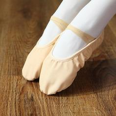 Women's Canvas Flats Ballet Practice Dance Shoes