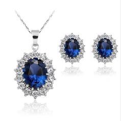 Legering med Strass Smycken Sets (Set av 2)