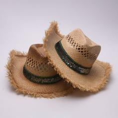 Hommes Mode/Élégante/Unique Raphia paille Chapeau de cowboy