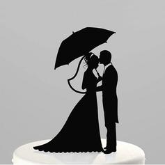 Figurin Brud och brudgummen Akryl Bröllop Tårtdekoration